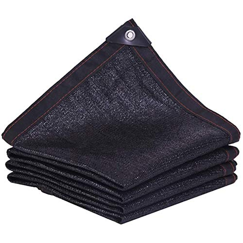 QYQS Black Shade Cloth, Patio Shades For Outside, For Flowers, Plants, Patio Lawn, Customized, Greenhouse Shade(Size:2mx7m,Color:Black)