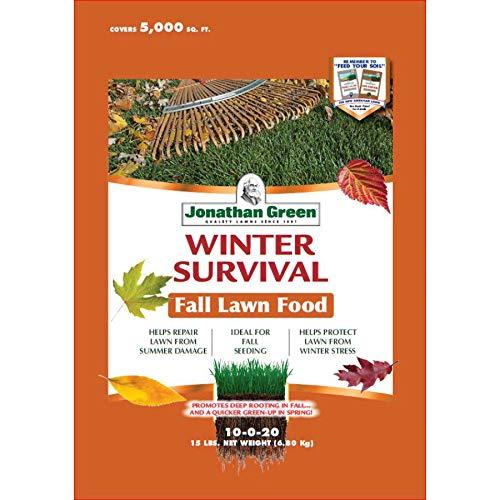 Jonathan Green 12400 Winter Survival Fall Lawn Fertilizer, 10-0-20, 5000 Sq.Ft