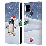Head Case Designs Licenciado Oficialmente Animal Club International Penguin Animals Carcasa de Cuero Tipo Libro Compatible con Google Pixel 4a 5G