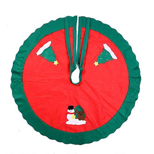 Tappetino alla Base di Albero Natale, Mbuynow Tappetino di Pupazzo di Neve di Natale Decorazione Albero Natale - 90cm