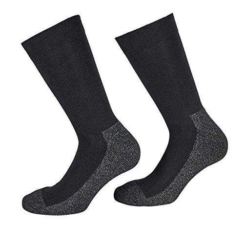 TippTexx 24 5 Paar Silbersocken, X-static Socken (Schwarz/Grau, 39/42)
