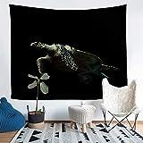 Manta de pared con diseño de tortuga marina, para niños, niñas, adolescentes, decoración 3D con estampado de reptiles para colgar en la pared, para acuario, Sealife Seaworld