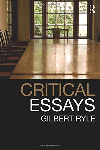 Critical Essays: Collected Papers Volume 1
