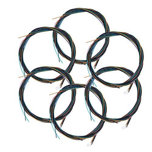 Cuerdas de nylon de colores para guitarra Cuerdas de guitarra eléctrica de...