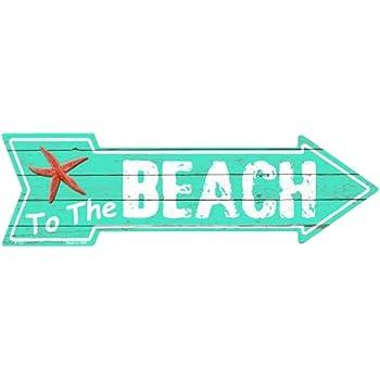 Beachcombers 14 Metal Love The Beach Sign