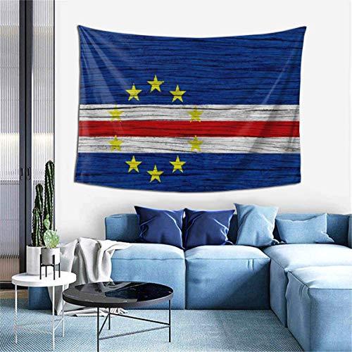N\A Wandteppich Wandteppich, Flagge von Kap Verde Holz Textur Wandteppiche für Wohnheim Wohnzimmer Schlafzimmer, Wanddecke Strandtücher Home Decor
