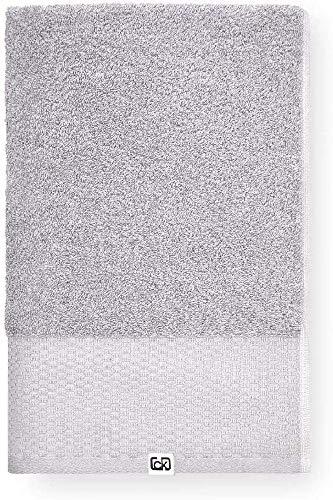 Calvin Klein Riverstone Toalla de Mano, Aldogón orgánico, Gris, 50x100 cm