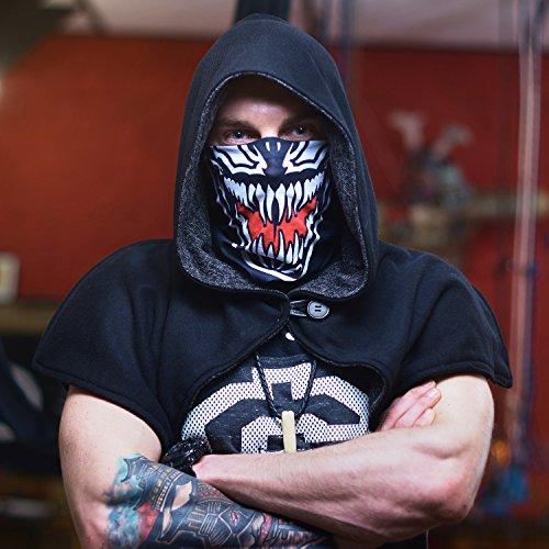 Venom Ghost Ninja Karneval Fasching gesichtsmaske gesichtsschal bandana sturmhaube funktionshaube gesichtshaube stirnhaube kopfbedeckung halsbedeckung stirntuch stirnband bekleidung hut mütze cap - 2