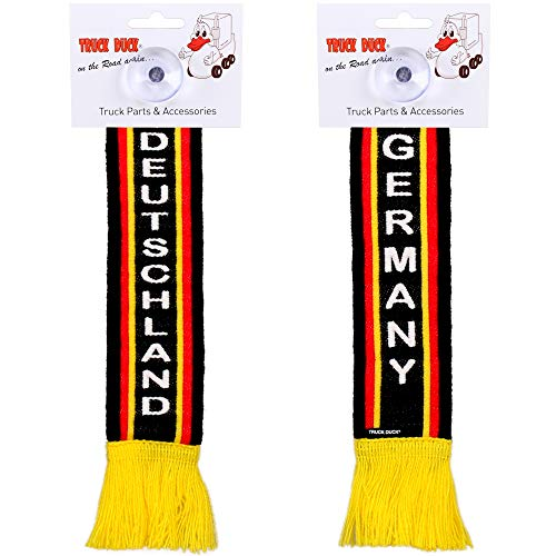 TRUCK DUCK® LKW Auto Minischal Deutschland Germany Trucker Mini Schal Wimpel Flagge Fahne Saugnapf Spiegel Deko
