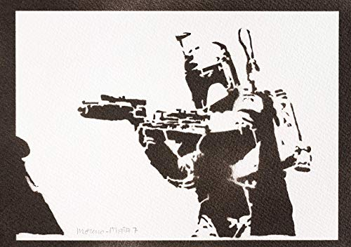 Boba Fett Poster STAR WARS Plakat Handmade Graffiti Street Art - Artwork
