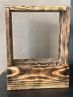 Lampada da tavolo a led abat jour lampada in legno