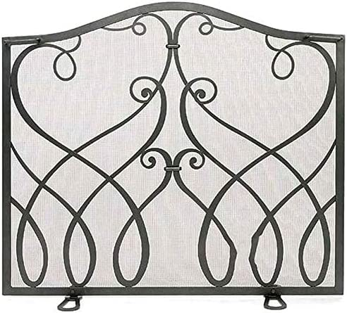 LLNN Fireplace Screen Flat Safe Gorgeous Place Fire Fence Proof List price Fireplac