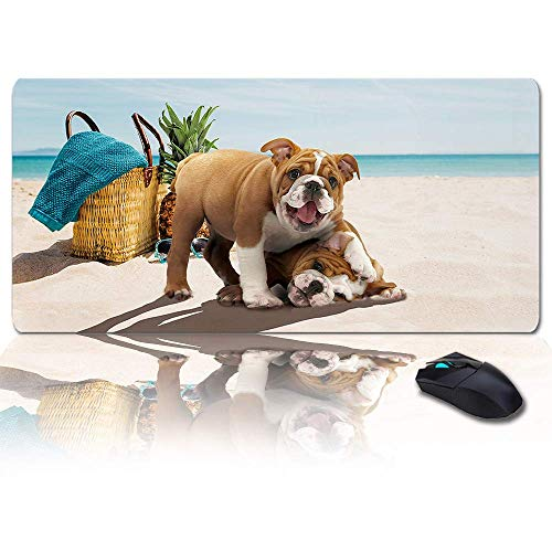 MIGAGA Extra Large Extended Gaming Mouse Pad(35x15 in),Mother's Day Best Mama Gnome Love Gift Red Mousepad,Long Non-Slip Rubber Base,XXL Large Keyboard Desk Mat for Desktop/Laptop/Office/Home