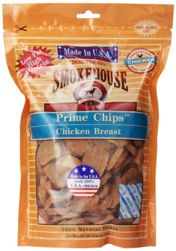 Smokehouse Treat USA Made Prime Chips Chicken Reseal Bag Breast Tender 16oz