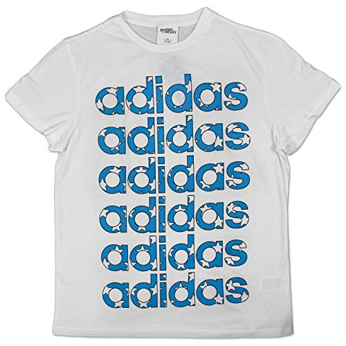 adidas Original by Jeremy Scott Flag Tee Stars X30176 - Camiseta Blanco L