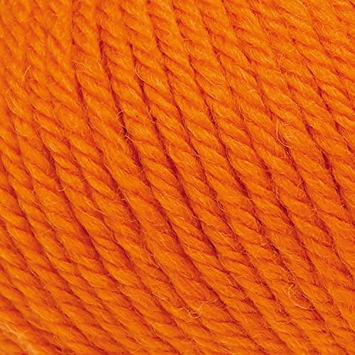 ggh Sportlife | 100% Schurwolle (Superwash) | Wolle zum Stricken und Häkeln geeignet | Farbe 051 - Kürbis