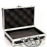 Cassette porta attrezzi Cassetta portautensili in lega di alluminio Cassa da trasporto portatile con manico in metallo toolbox toolbox con spugna per uso domestico all'organizzatore hardware all'apert