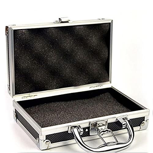 Caja de Herramientas Caja de herramientas de aleación de aluminio Caja de almacenamiento portátil con caja de herramientas de metal de mango con esponja para organizador de hardware al aire libre domé