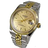 Whatswatch 36mm Parnis Gold dial Sapphire Glass 21 Jewels Miyota Automatic Mens Watch EE-0027