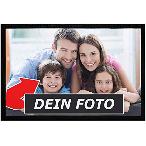 SpecialMe® personalisierte Fußmatte mit Foto selbst gestalten, rutschfest & waschbar weiß 60x40cm