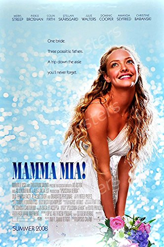 MCPosters - Mamma Mia! 2008 Movie Poster Glossy Finish - MCP054 (24' x 36' (61cm x 91.5cm))