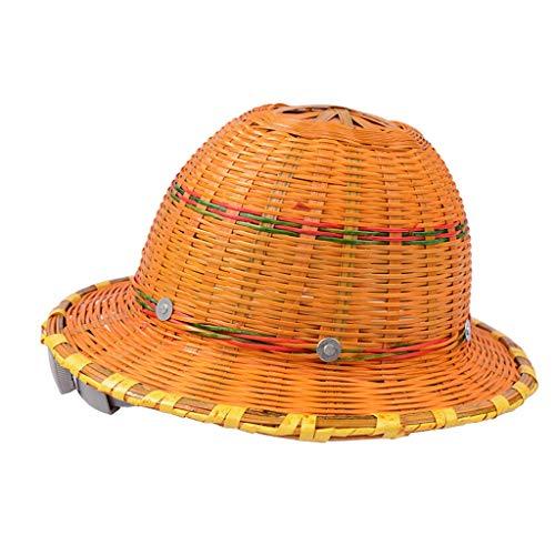 JU FU Helm Schutzhelm, Sommer-Breathable Bambus Construction Hut, Anti-Smashing Helm, Männer und Frauen Sonnenschutz Sonnenhut @@ (Color : A)
