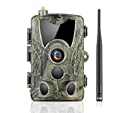 SUNTEKCAM 2G Cámara de Caza Nocturna 20MP 1080P con Diseño Impermeable IP66 Cámara de Fototrampeo con Detección de Acción LED IR Sin Brillo para Seguimiento Cinegético de Fauna