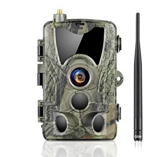 SUNTEKCAM 2G Wildkamera 20MP 1080P UpgradeMobilfunknetzübertragung, mit Bewegungsmelder Nachtsicht Wildlife Jagdkamera, Wildtierkamera mit Nachtsichtbewegung Wasserdicht IP66