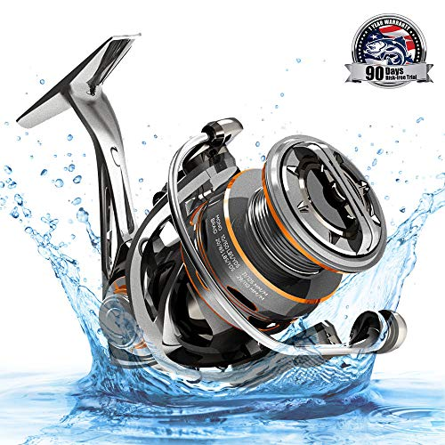 CS8 Spinning Reel,Cadence Ultralight Fast Speed Premium Magnesium Frame Fishing Reel with 10 Low Torque Bearings Super Smooth Powerful Fishing Reel with 36 LBs Max Drag & 6.2:1 Spinning Reel