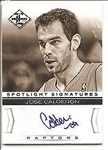 Jose Calderon Toronto Raptors 2012-13 Panini Limited Spotlight Signatures Autograph Memorabilia Basketball Card #18/49