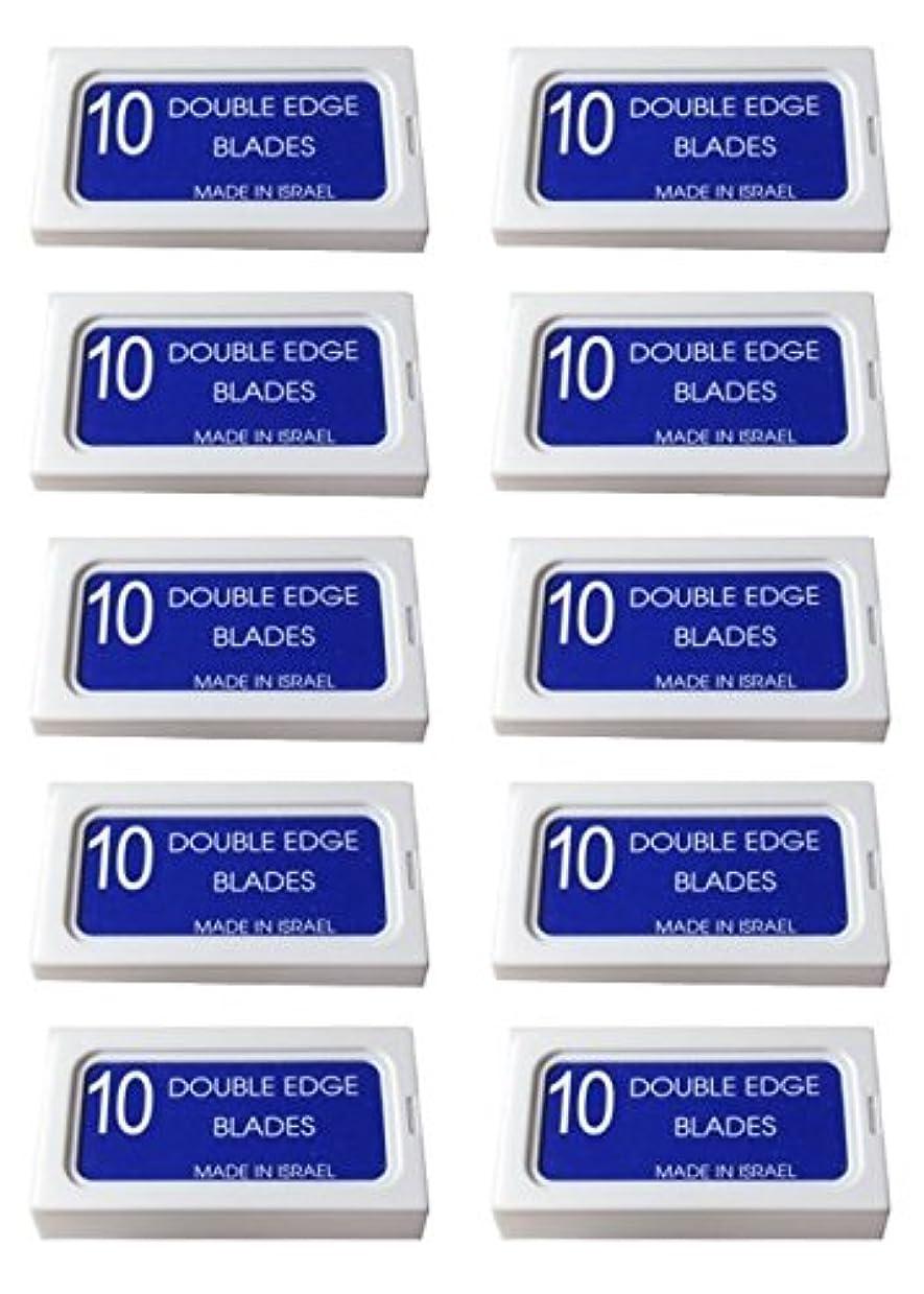 植物学愛人ブルジョンPersonna Crystal 両刃替刃 100枚入り(10枚入り10 個セット)【並行輸入品】