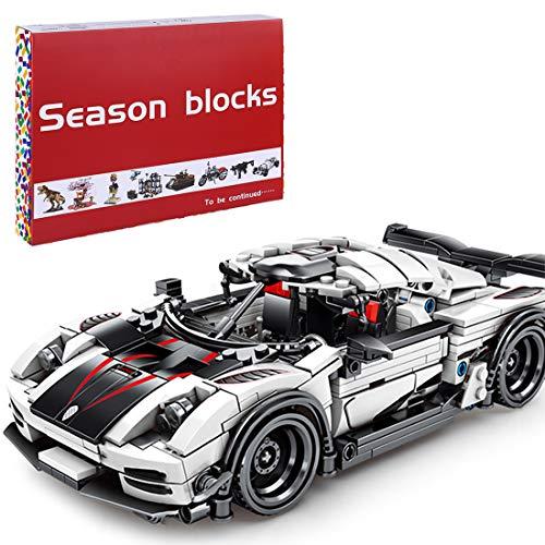 Bybo Technik Bausteine Sportwagen für Koenigsegg, 770 Teile Rennauto Bausatz mit Rückzugsmotor Kompatibel mit Lego