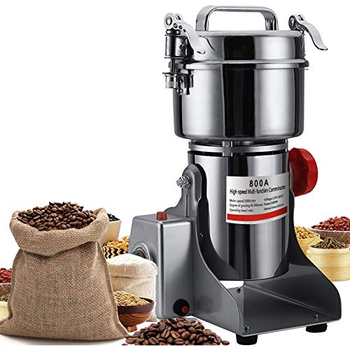 N/V Upgraded Electric Grain Grinder Mill High-speed Spice Herb Mill Commercial Powder Machine Dry Cereals Grinder (800g Swing Type)