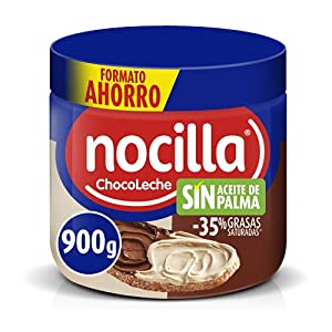 Nocilla Doble Crema de Cacao y Leche con Avellanas, Sin Aceite de Palma, 900g