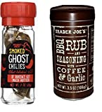 7. Gourmet Bundle -- 2 Trader Joe's Items: Smoked Ghost Chilies and BBQ Rub and Seasoning with Coffee & Garlic