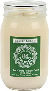 Claire Burke Scented Candle, 14 oz. Mason Jar Large Candle, Fresh Royal Fir, 1 ct.