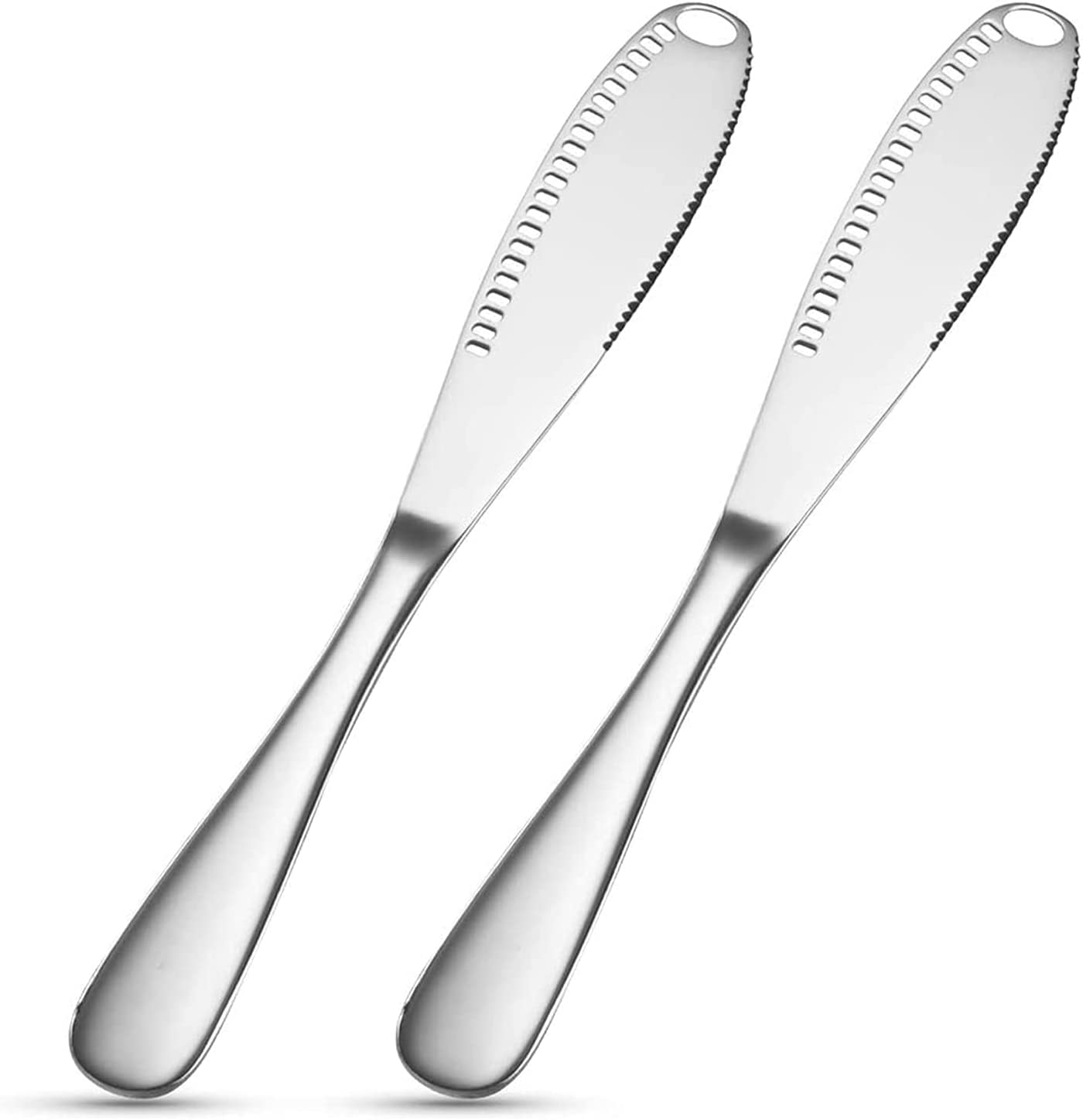 2 PCS Max 43% OFF depot Butter Spreader Knife Multifunctional C for Silver -