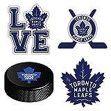 Toronto City Canada Maple Leaf Sport Hockey Logo Die-Cut Sticker Aufkleber Decal Label - Set of 4...