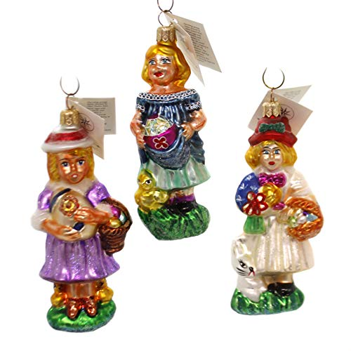 Christopher Radko Spring Maidens Blown Glass Ornament Set/3 Limited Edition