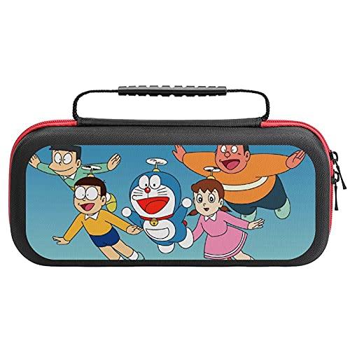 Nobita Doraemon Switch Funda de transporte para Nintendo, Funda de viaje portátil compatible con Nintendo Switch Console y accesorios, funda protectora para interruptor con almacenamiento de juegos