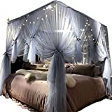 Joyreap 4 Corners Post Canopy Bed Curtain for Girls & Adults...