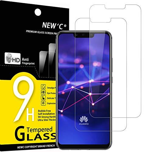 NEW'C 2 Stück, Schutzfolie Panzerglas für Huawei Mate 20 lite, Honor Play, Frei von Kratzern, 9H Härte, HD Displayschutzfolie, 0.33mm Ultra-klar, Ultrabeständig