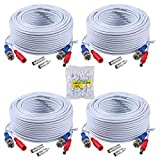 ANNKE 4 Pack Special Design 30M/100 Feet BNC Video...