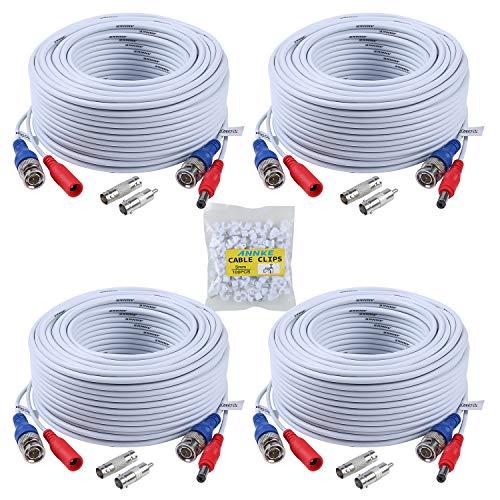 ANNKE 30m Cable de video DC Power BNC Connector Video 4 ×...