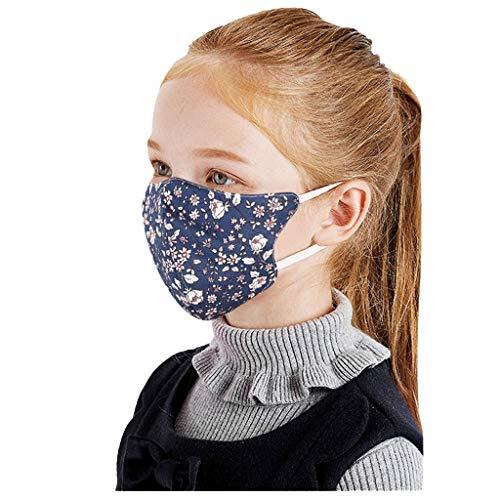 10 Stück Kinder waschbar Atmungsaktive Mundmasken Schutztuch Gesichtsschutz Schutzhülle Outdoor Schutztuch staubdicht Winddicht Mund Schal für die persönliche Gesundheit Einstellbar Sportmaske (A)