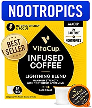 16-Count VitaCup Lightning Blend Nootropic Coffee Pods