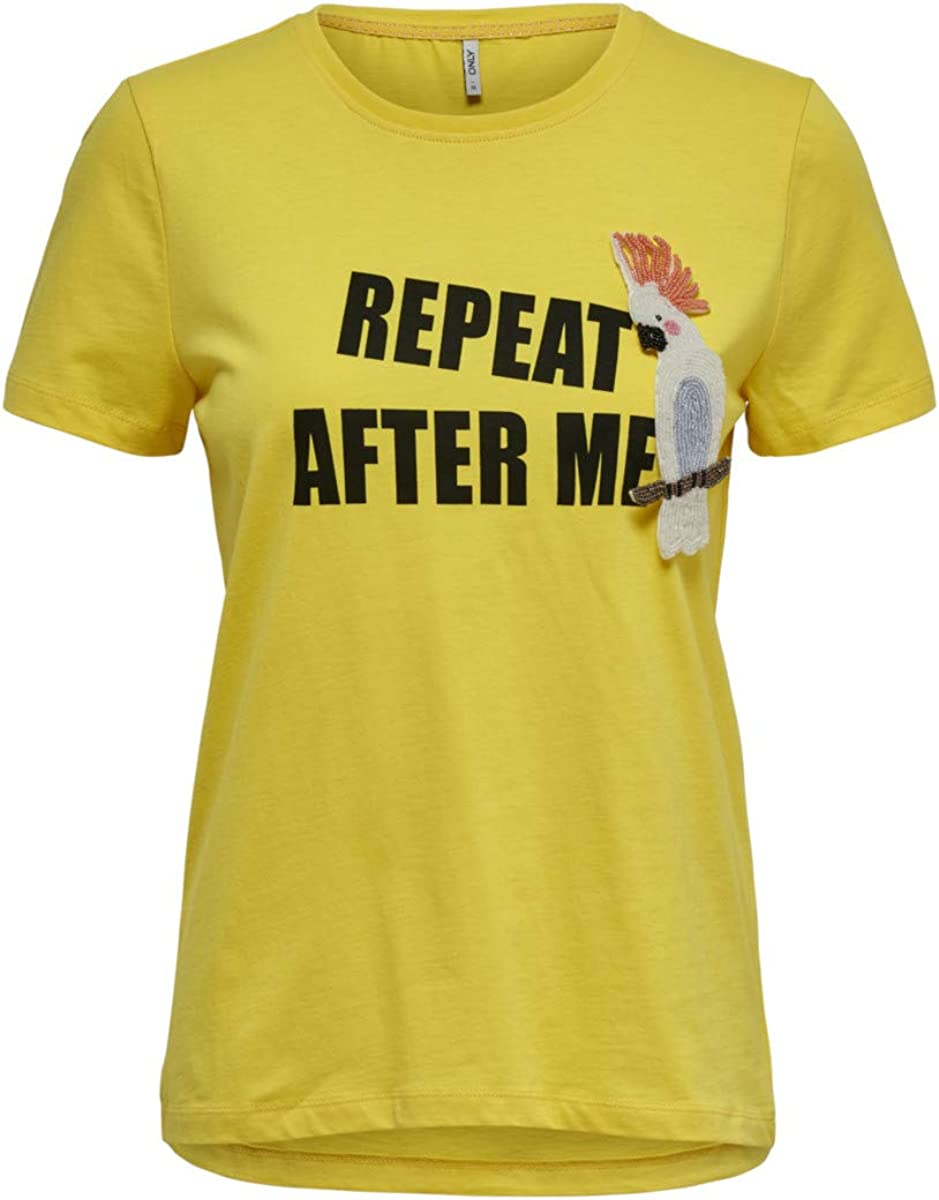 Only Onltally Reg S/S Animal Top Box Co Jrs Camiseta para Mujer
