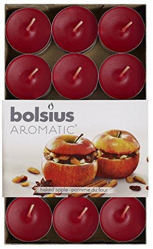 """Aromatic Duft-Teelicht """"Bratapfel"""", Paraffin-Wachs, Rot, 30Stück"""