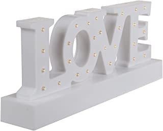 OOTB Decoración Love 27 luces led 30x12cm, blanco
