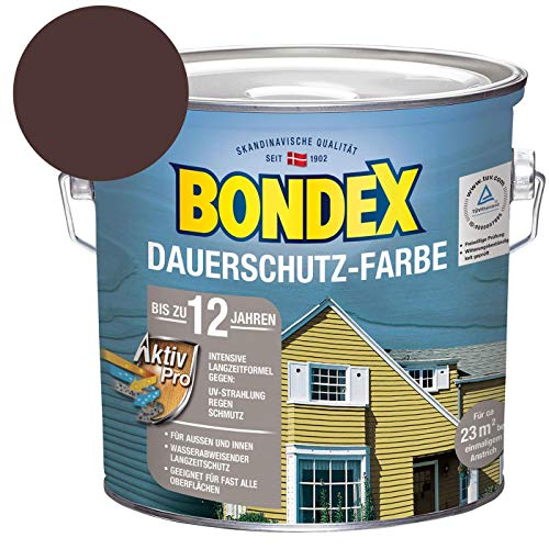 Bondex Dauerschutz Farbe - Schokolade Braun, 2,5 L